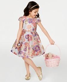 ba8b1a56d1c Rare Editions Toddler Girls Floral-Print Dress