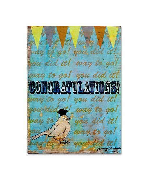 "Trademark Global Tammy Kushnir 'Congratulations Bird' Canvas Art - 47"" x 35"" x 2"""