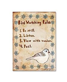 "Tammy Kushnir 'Bird Watching Rules' Canvas Art - 32"" x 24"" x 2"""