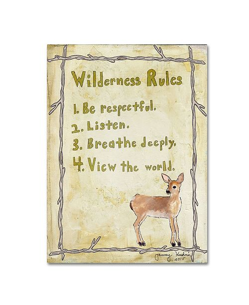 "Trademark Global Tammy Kushnir 'Wilderness Rules' Canvas Art - 19"" x 14"" x 2"""