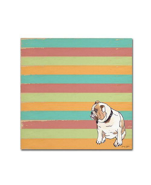 "Trademark Global Tammy Kushnir 'Bulldog' Canvas Art - 14"" x 14"" x 2"""