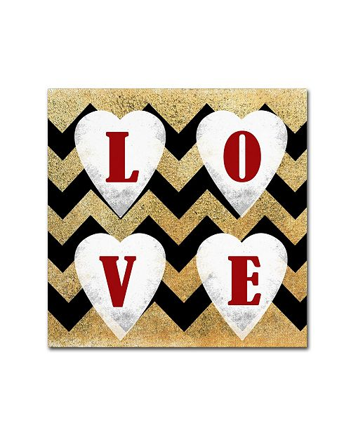 "Trademark Global Tammy Kushnir 'Love' Canvas Art - 24"" x 24"" x 2"""