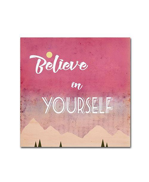 "Trademark Global Tammy Kushnir 'Believe in Yourself' Canvas Art - 35"" x 35"" x 2"""