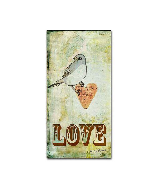 "Trademark Global Tammy Kushnir 'Love 2' Canvas Art - 10"" x 19"" x 2"""