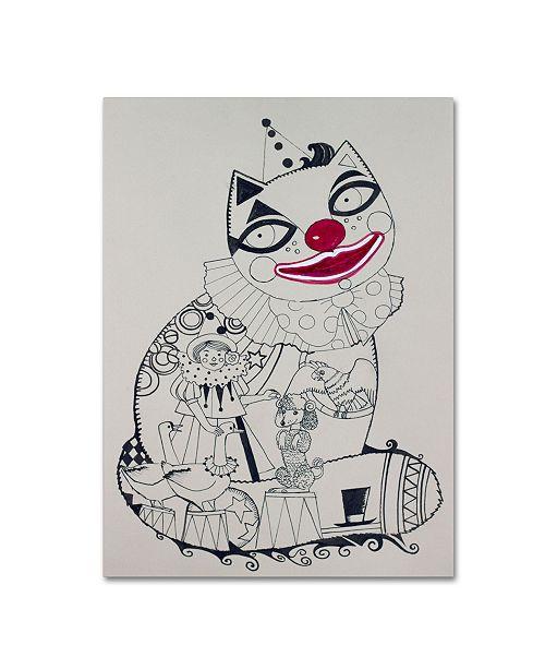 "Trademark Global Oxana Ziaka 'Clown 1' Canvas Art - 19"" x 14"" x 2"""