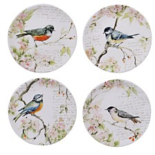 Certified International Spring Meadows 4-Pc. Salad Plate