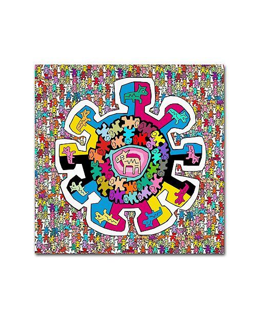 "Trademark Global Miguel Balbas 'Colorful Wheel' Canvas Art - 14"" x 14"" x 2"""