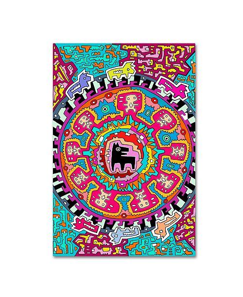 "Trademark Global Miguel Balbas 'Black Dog' Canvas Art - 32"" x 22"" x 2"""