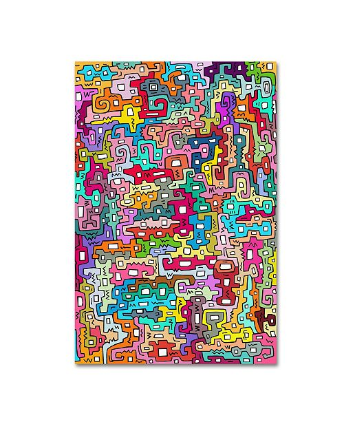 "Trademark Global Miguel Balbas 'Life 3' Canvas Art - 24"" x 16"" x 2"""
