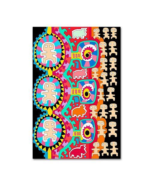 "Trademark Global Miguel Balbas 'Men Dogs 2' Canvas Art - 32"" x 22"" x 2"""