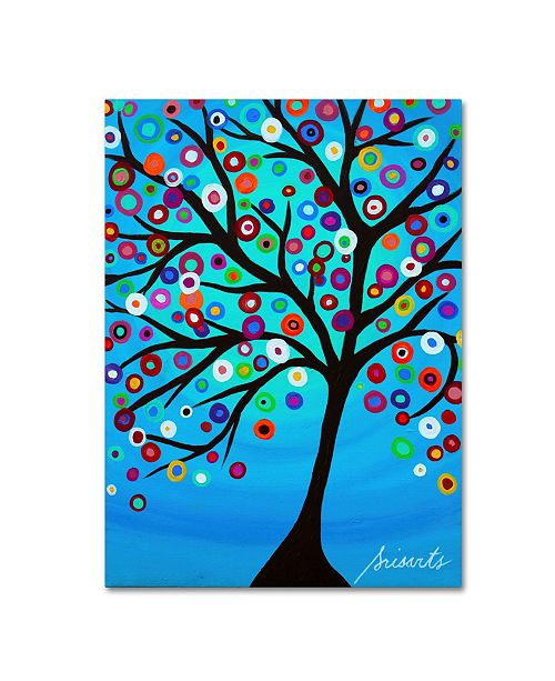 "Trademark Global Prisarts 'Dancing Tree Of Life' Canvas Art - 32"" x 24"" x 2"""