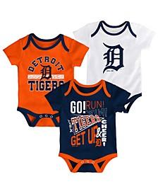 Baby Detroit Tigers Newest Rookie 3 Piece Bodysuit Set