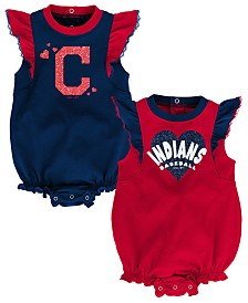 Outerstuff Baby Cleveland Indians Double Trouble Bodysuit Set