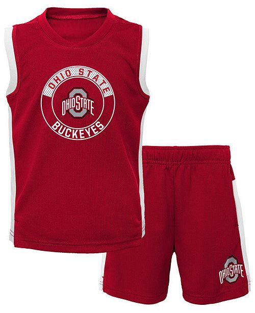 Outerstuff Toddlers Ohio State Buckeyes Leader Muscle Tee Set