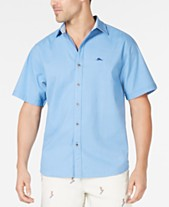 2d2123ad Tommy Bahama Men's Corvair Stretch Seersucker Camp Shirt, Created for Macy's