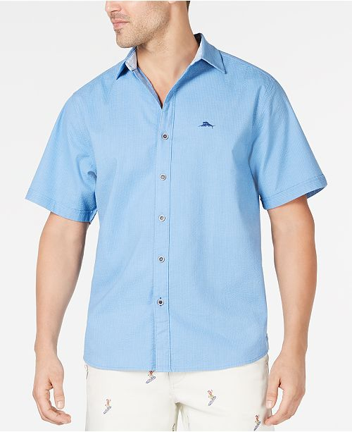 Tommy Bahama Men's Corvair Stretch Seersucker Camp Shirt, Created for Macy's
