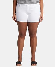 Silver Jeans Co. Trendy Plus Size Denim Boyfriend Shorts