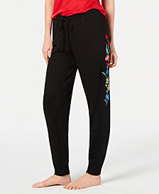 Jenni Embroidered Jogger Pajama Pants, Created for Macy's