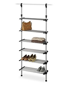 Closet 6-Shelf Shoe Rack System