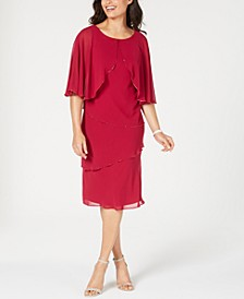 Tiered Capelet Dress