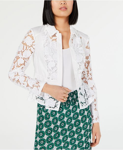 INC International Concepts I.N.C. Crochet Lace Jacket, Created for Macy's