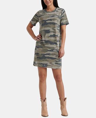 Camo Print Summer T Shirt Dress by General