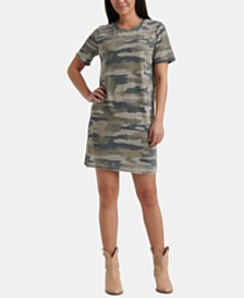 Lucky Brand Camo-Print Summer T-Shirt Dress