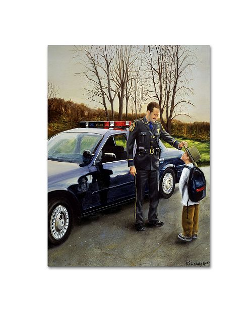 "Trademark Innovations Paul Walsh 'Police' Canvas Art - 32"" x 24"" x 2"""
