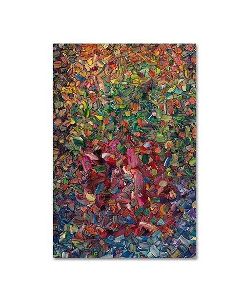 "Trademark Global James W. Johnson 'Flowers in a Red Vase' Canvas Art - 32"" x 22"" x 2"""