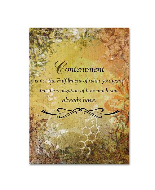 "Trademark Global Janelle Nichol 'Contentment (earth theme)' Canvas Art - 19"" x 14"" x 2"""