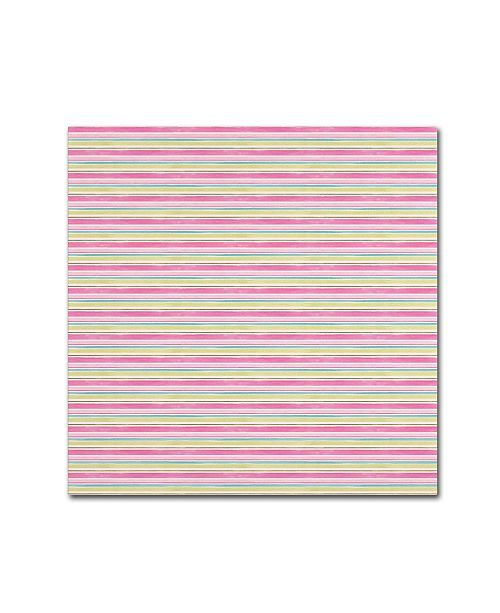 "Trademark Global Yachal Design 'Pink Blossoms 1100' Canvas Art - 14"" x 14"" x 2"""