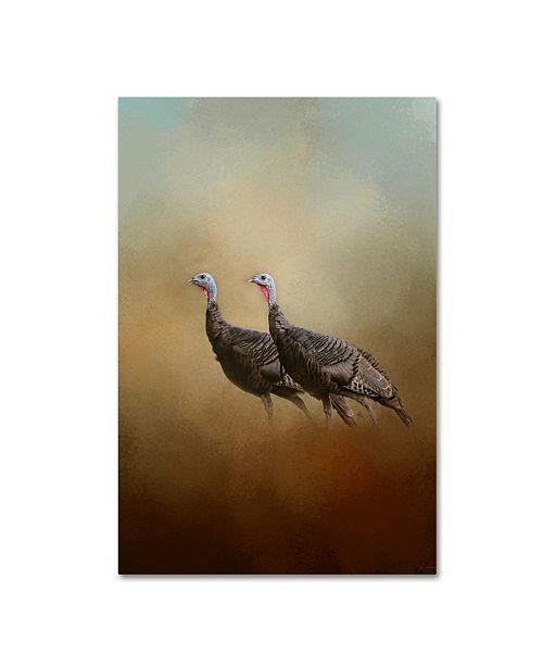 "Trademark Global Jai Johnson 'Wild Turkey At Shiloh' Canvas Art - 19"" x 12"" x 2"""