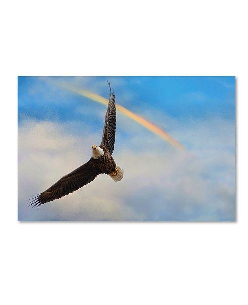 "Trademark Global Jai Johnson 'When My Wings Touch The Rainbow' Canvas Art - 47"" x 30"" x 2"""