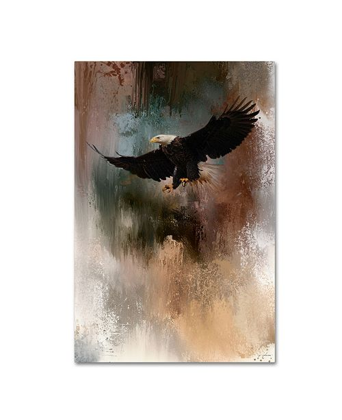 "Trademark Global Jai Johnson 'Winter Eagle 1' Canvas Art - 32"" x 22"" x 2"""