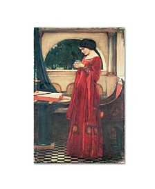 "John William Waterhouse 'The Crystal Ball' Canvas Art - 19"" x 12"" x 2"""