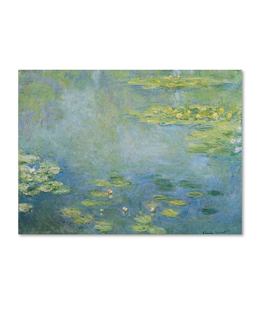 "Trademark Global Monet 'Waterlilies' Canvas Art - 19"" x 14"" x 2"""