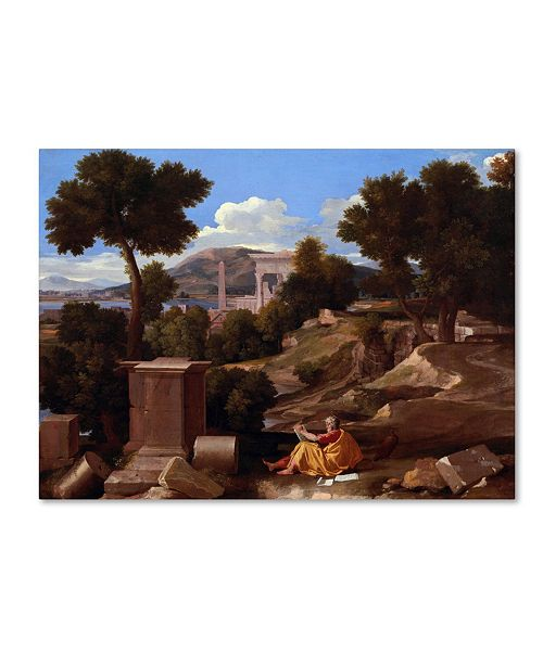 "Trademark Global Nicolas Poussin 'Landscape With Saint John On Patmos' Canvas Art - 47"" x 35"" x 2"""