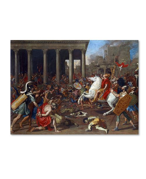 "Trademark Global Nicolas Poussin 'The Conquest' Canvas Art - 47"" x 35"" x 2"""