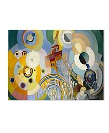 "Robert Delaunay 'Air Iron And Water' Canvas Art - 47"" x 35"" x 2"""