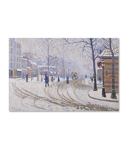 "Trademark Innovations Paul Signac 'Snow Boulevard De Clichy Paris' Canvas Art - 19"" x 12"" x 2"""
