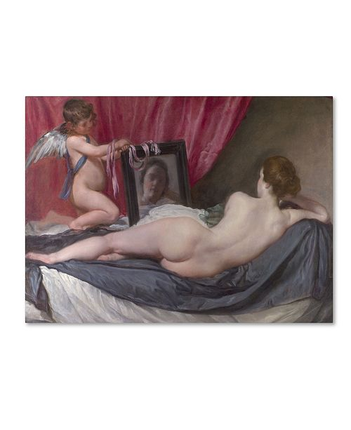"Trademark Global Velazquez 'Venus At Her Mirror' Canvas Art - 19"" x 14"" x 2"""