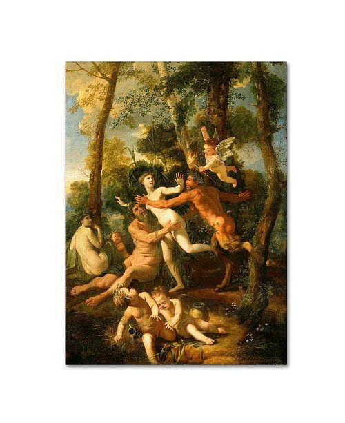 "Trademark Global Nicolas Poussin 'Pan And Syrinx' Canvas Art - 47"" x 35"" x 2"""