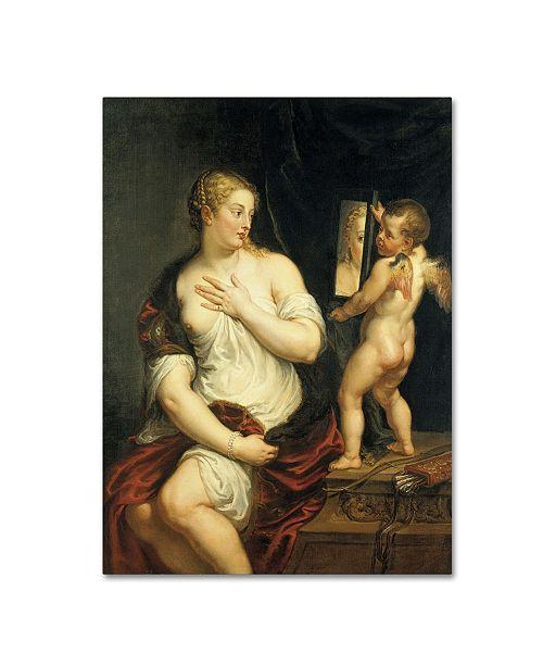 "Trademark Global Peter Paul Rubens 'Venus And Cupid' Canvas Art - 19"" x 14"" x 2"""