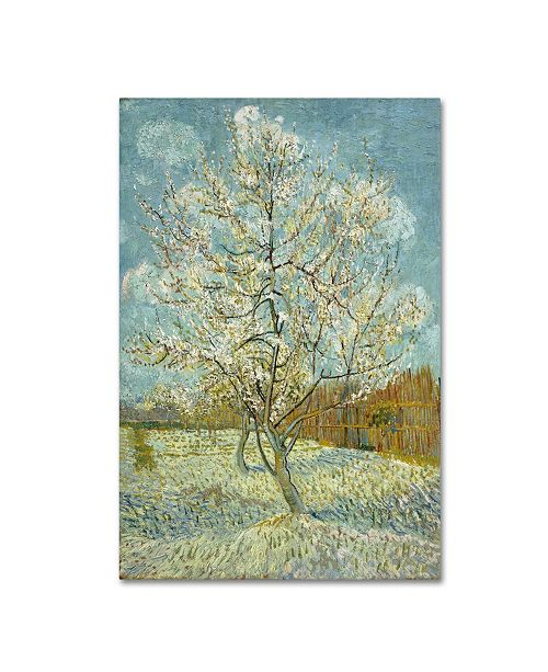 "Trademark Global Van Gogh 'The Pink Peach Tree' Canvas Art - 47"" x 30"" x 2"""
