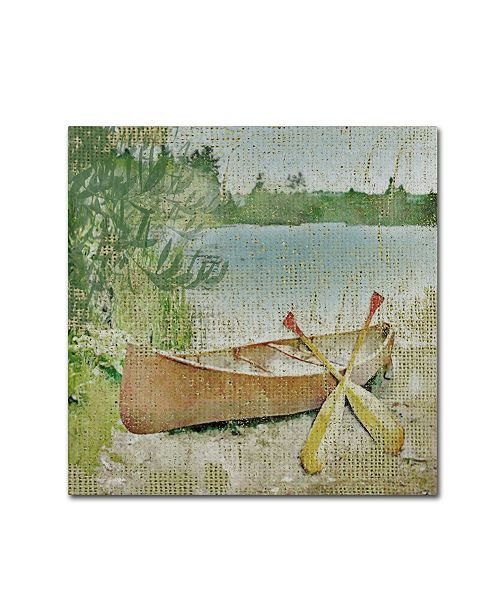 "Trademark Global Jean Plout 'Wilderness Lodge Q1' Canvas Art - 35"" x 35"" x 2"""