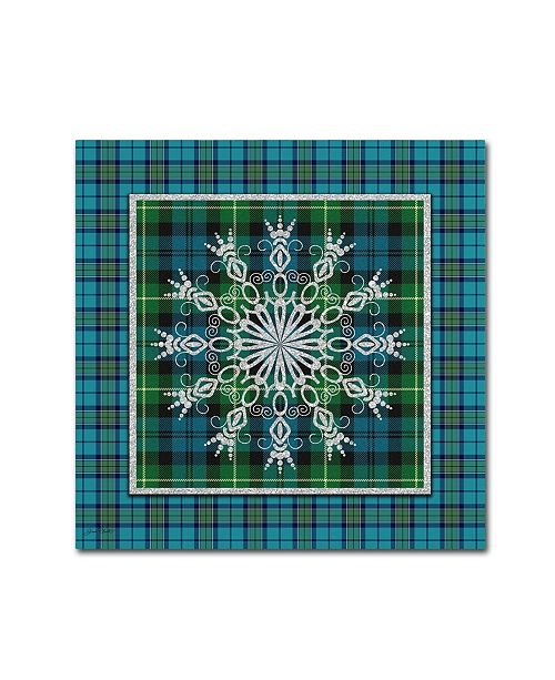 "Trademark Global Jean Plout 'Plaid Snowflakes' Canvas Art - 35"" x 35"" x 2"""