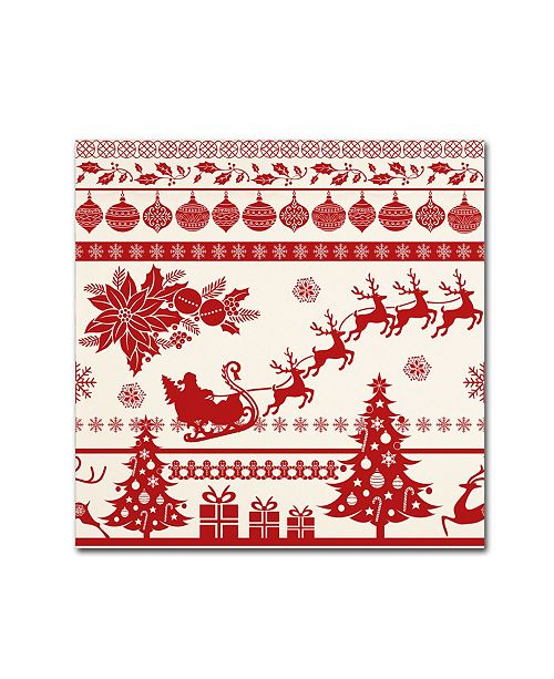 "Trademark Global Jean Plout 'Christmas Folklore 1' Canvas Art - 35"" x 35"" x 2"""