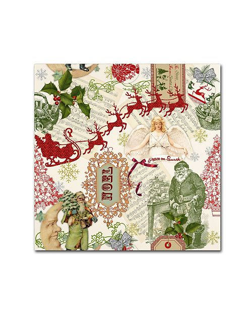 """Trademark Global Jean Plout 'Christmas Folklore 4' Canvas Art - 18"""" x 18"""" x 2"""""""