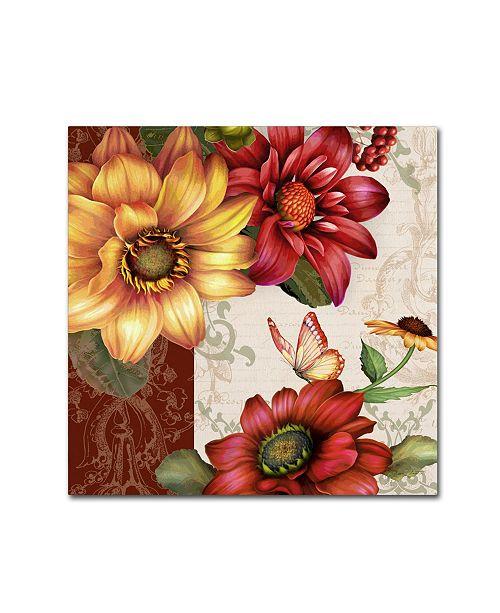 "Trademark Global Jean Plout 'Autumn Bouquet 3' Canvas Art - 14"" x 14"" x 2"""