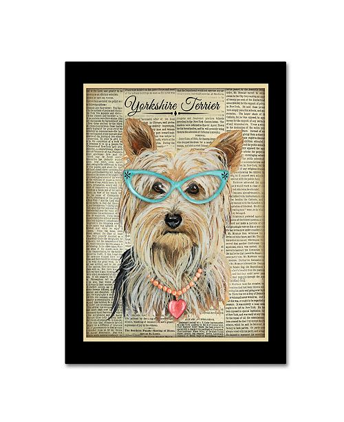 """Trademark Global Jean Plout 'Yorkshire Terrier' Canvas Art - 24"""" x 18"""" x 2"""""""